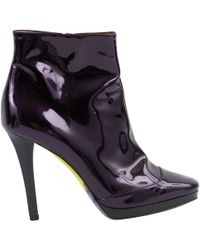 Emilio Pucci - Purple Patent Leather Boots - Lyst