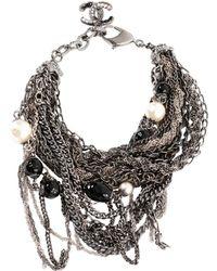 Chanel - Pre-owned Silver Metal Bracelet - Lyst
