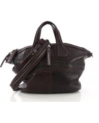 be097ed1384 Givenchy Small Burgundy Nightingale Waxed Leather Bag in Purple - Lyst