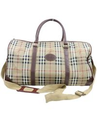 Burberry Beige Leather Travel Bag - Natural
