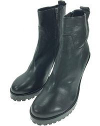 Ann Demeulemeester - Pre-owned Leather Ankle Boots - Lyst