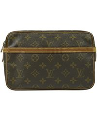 Louis Vuitton - Brown Cloth Small Bag, Wallets & Cases - Lyst