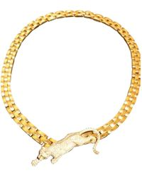 Cartier - Pre-owned Vintage Panthère Yellow Yellow Gold Necklace - Lyst