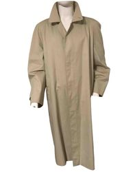 Burberry Beige Synthetic Coat - Natural