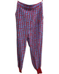 Stella McCartney - Pre-owned Multicolour Silk Trousers - Lyst