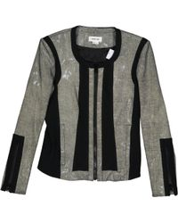 Helmut Lang - Silver Polyester Jacket - Lyst