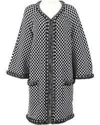 Chanel - Pre-owned Black Viscose Coats - Lyst