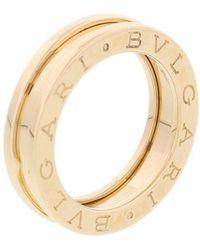 bvlgari bzero1 yellow gold ring lyst