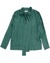 Marni - Pre-owned Green Silk Tops - Lyst