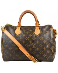 Louis Vuitton - Pre-owned Speedy Bandoulière Cloth Handbag - Lyst