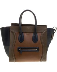 e1792b0ef063 Céline Green Brown Suede Leather Tricolor