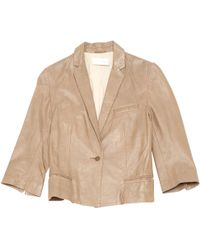 Zadig & Voltaire - Pre-owned Beige Leather Jackets - Lyst