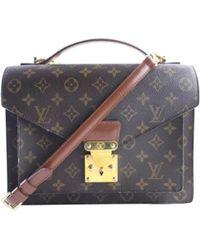 Louis Vuitton - Vintage Monceau Other Cloth Handbag - Lyst