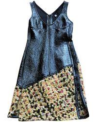 Louis Vuitton - Leather Mid-length Dress - Lyst