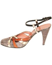 Miu Miu - Brown Exotic Leathers Heels - Lyst