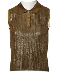 Chanel - Pre-owned Vintage Gold Viscose Tops - Lyst