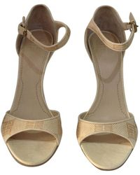 Givenchy - Pre-owned Beige Leather Heels - Lyst