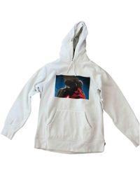 2199ab605e Supreme - Pre-owned White Cotton Knitwear & Sweatshirts - Lyst