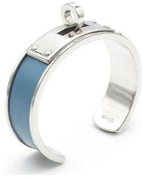 Hermès - Pre-owned Kelly Blue Metal Bracelets - Lyst