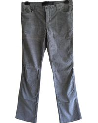 Zadig & Voltaire - Grey Cotton Trousers - Lyst