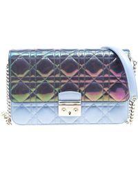 6a76a348a8f2 Lyst - Dior Miss Leather Clutch Bag in Pink