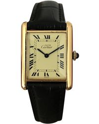 Cartier - Pre-owned Tank Must Watch - Lyst