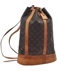 Louis Vuitton - Vintage Randonnée Brown Cloth Handbag - Lyst