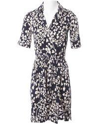 Diane von Furstenberg - Robe mi-longue en soie - Lyst