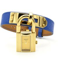 Hermès - Kelly Blue Gold Plated Watches - Lyst