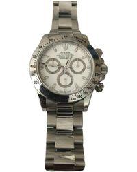 Rolex - Daytona White Steel Watches - Lyst