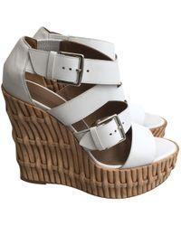 Hermès - Leather Sandals - Lyst