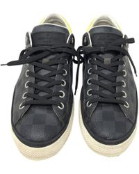 25f0d677cee8 Lyst - Louis Vuitton Leather Men s Low Top Sneakers in White for Men