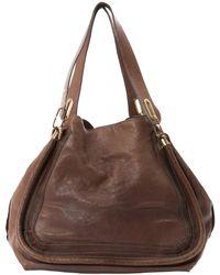 Chloé - Paraty Brown Leather Handbag - Lyst