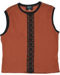 Jean Paul Gaultier - Vintage Brown Viscose T-shirts - Lyst
