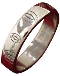 Cartier - Happy Birthday Silver White Gold Ring - Lyst