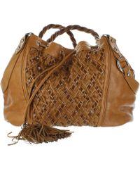 Zac Posen Camel Leather Handbag