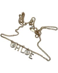 Chloé - Gold Metal Necklace - Lyst