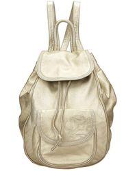 Loewe Backpack Gold Leather Backpack - Metallic