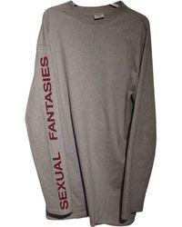 Vetements - Grey Cotton Knitwear & Sweatshirts - Lyst