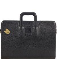 Burberry - Leather Satchel - Lyst