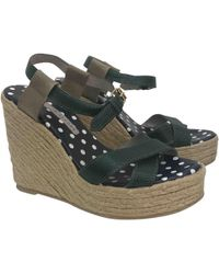 Marc By Marc Jacobs - Green Leather Espadrilles - Lyst