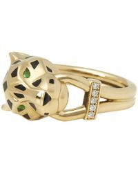 Cartier - Panthère Yellow Gold Ring - Lyst