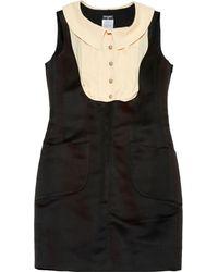 Chanel - Black Silk Dress - Lyst