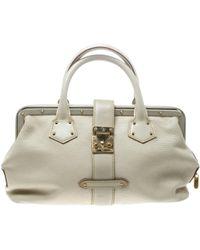 88d006d9e287 Lyst - Louis Vuitton L ingénieux White Leather Handbag in White ...