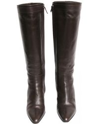 Hermès - Brown Leather Boots - Lyst