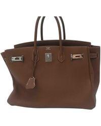 Hermès - Birkin 35 Leather Handbag - Lyst