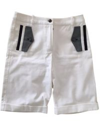 Chanel - White Other Shorts - Lyst