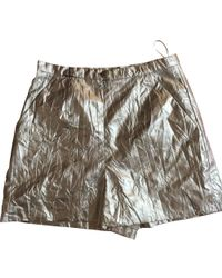 Chanel | Silver Polyester Shorts | Lyst