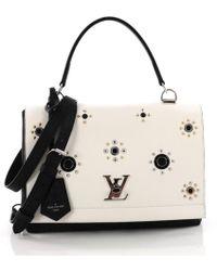 Louis Vuitton - Lockme White Leather Handbag - Lyst