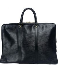 5b83737ca4c8 Lyst - Louis Vuitton Pre-owned Keepall Leather Weekend Bag in Black ...